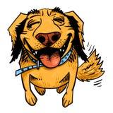 Cartoon image of happy dog Royalty Free Stock Image