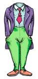 Cartoon image of headless man Royalty Free Stock Image