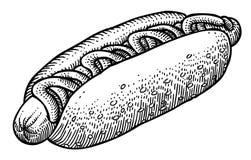 Cartoon image of hotdog Royalty Free Stock Image