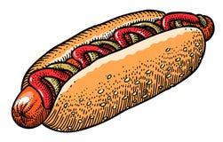 Cartoon image of hotdog Royalty Free Stock Photo
