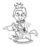 Cartoon image of idiot prince Stock Images