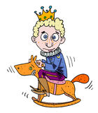 Cartoon image of idiot prince Stock Photography