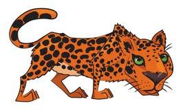 Cartoon image of leopard Stock Photos