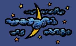 Cartoon image of Night Icon. Nighttime symbol Royalty Free Stock Photography