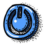 Cartoon image of On, off Icon. Shutdown symbol Stock Images