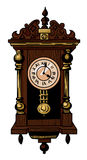 Cartoon image of old clock Royalty Free Stock Images