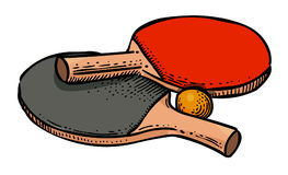 Cartoon image of Ping pong Icon. Sport symbol. An artistic freehand picture royalty free illustration