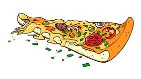 Cartoon image of pizza slice Stock Photo