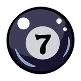 Cartoon image of Pool ball Icon. Billiard symbol. An artistic freehand picture Stock Photos