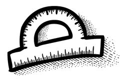 Cartoon image of Protractor Royalty Free Stock Image