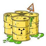 Cartoon image of radioactive waste stock illustration