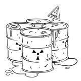 Cartoon image of radioactive waste Royalty Free Stock Image