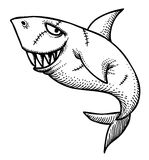 Cartoon image of shark Royalty Free Stock Images