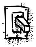 Cartoon image of Shutdown Icon. On, Off button Royalty Free Stock Image