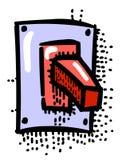 Cartoon image of Shutdown Icon. On, Off button Stock Image