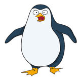 Cartoon image of surprised penguin Royalty Free Stock Photography