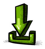Cartoon image of Torrent Icon. Arrow symbol Stock Image