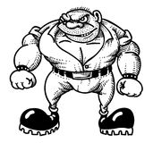 Cartoon image of tough man. An artistic freehand picture Royalty Free Stock Photo