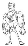 Cartoon image of tough man Royalty Free Stock Image