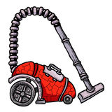 Cartoon image of vacuum cleaner. An artistic freehand picture Stock Images