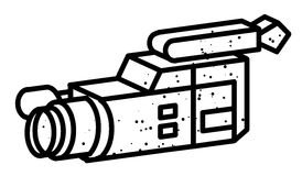Cartoon image of Video camera. Camera symbol Stock Photography