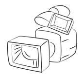 Cartoon image of Video camera. Camera symbol Stock Images
