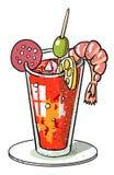 Cartoon image of weird cocktail Stock Photos