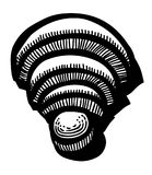 Cartoon image of WIFI Icon. Wireless network symbol. An artistic freehand picture Royalty Free Stock Photos