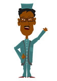 Cartoon imam. On a white background. Easy to add to any design Royalty Free Stock Image