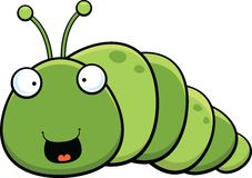 Cartoon Inch Worm Happy Stock Photo