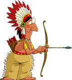 Cartoon indian Stock Photo