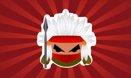 Cartoon Indian bubble warrior Royalty Free Stock Image