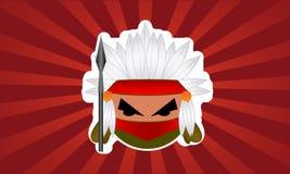 Cartoon Indian bubble warrior Royalty Free Stock Image