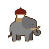 Cartoon indian elephant ornament annual festival. Vector illustration eps 10 Royalty Free Stock Photos