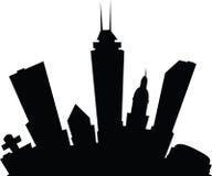 Cartoon Indianapolis. Cartoon skyline silhouette of the city of Indianapolis, Indiana, USA Stock Image