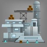 Cartoon industrial building. Royalty Free Stock Photo
