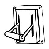 Cartoon industrial machine lever Stock Photos