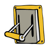 Cartoon industrial machine lever Royalty Free Stock Photography