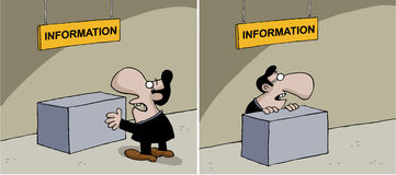 Cartoon about information Royalty Free Stock Image