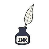 cartoon ink bottle Royalty Free Stock Image