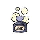 cartoon ink pot Stock Image