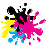 Cartoon inkblot Royalty Free Stock Photography