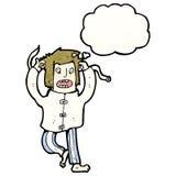 Cartoon insane man Stock Photo