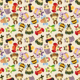 Cartoon insect bug seamless pattern Royalty Free Stock Image