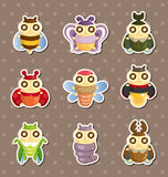 Cartoon insect bug stickers Stock Image