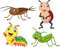 Cartoon insect collection set Royalty Free Illustration