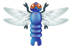 Cartoon insect dragon fly bug Royalty Free Stock Image