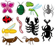 Cartoon insect icon Stock Images