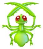 Cartoon insect preying mantis bug Royalty Free Stock Photo