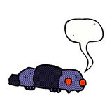Cartoon insect with speech bubble Royalty Free Stock Photo